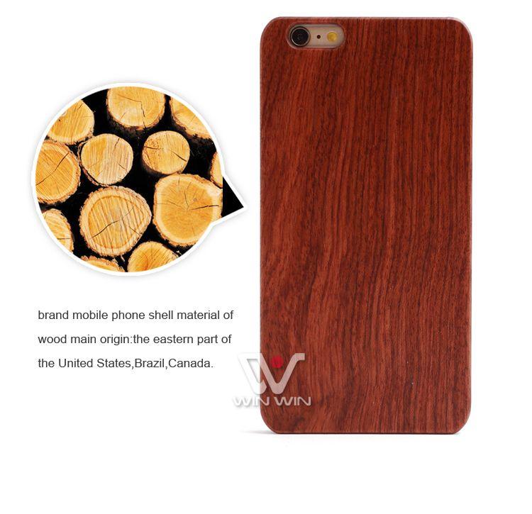 UI réel naturel Rosewood cas de téléphone portable en plastique supérieure Cadre de luxe en blanc Cas de téléphone en bois pour IPhone 5 6 7 6plus 7plus