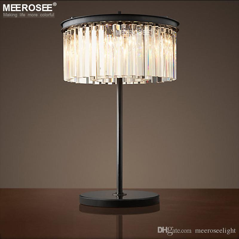 Crystal Table Lamp Vintage Good Quality Desk Light Fixture For Home  Decoration Hotel Shopping Mall Bedroom Table Lamp Lamparas