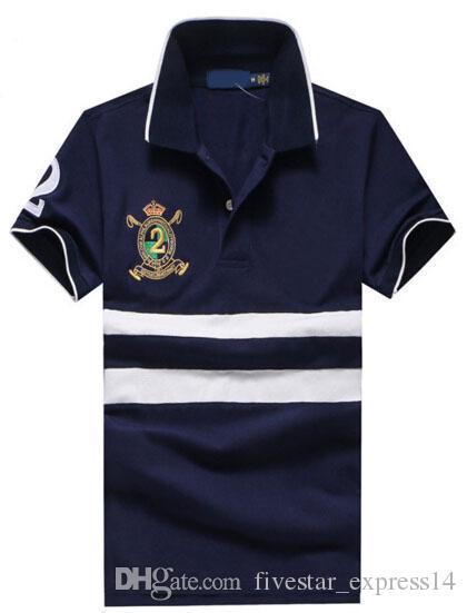 Compre Top Quality Barato Homens Camisa Polo Big Horse Manga Curta Marca  Mens Algodão Slim Fit Perry Polo Camisas De Tênis De Golfe Pólos Casuais De  ... 31f66138efe6