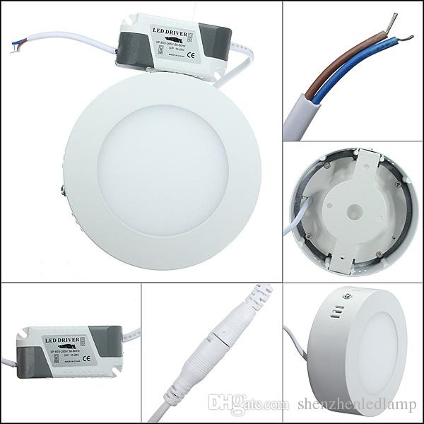 Dimmable 25W Round LED Surface Mounted Ceiling Panel Light warm white cool white For Home Bedroom kitchen illumination