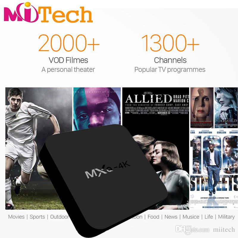 Stable quality MXQ-4K HD android 6.0 iptv box 1year 12months free watch NEOTV full european arabic UK French Italy German MXQ 4K