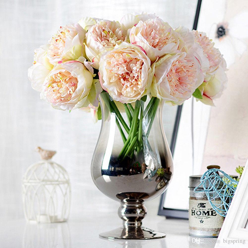 2018 Hot Bouquet Artificial Fake Peony Silk Flower Bridal Hydrangea