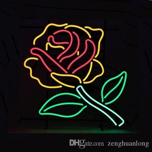 a48f1f40ba 2019 Fashion Handcraft Neon Sign Flower Rose Real Glass Tubes For Bedroom  Home Display Neon Lighht Sign 10x10!!! From Zenghuanlong