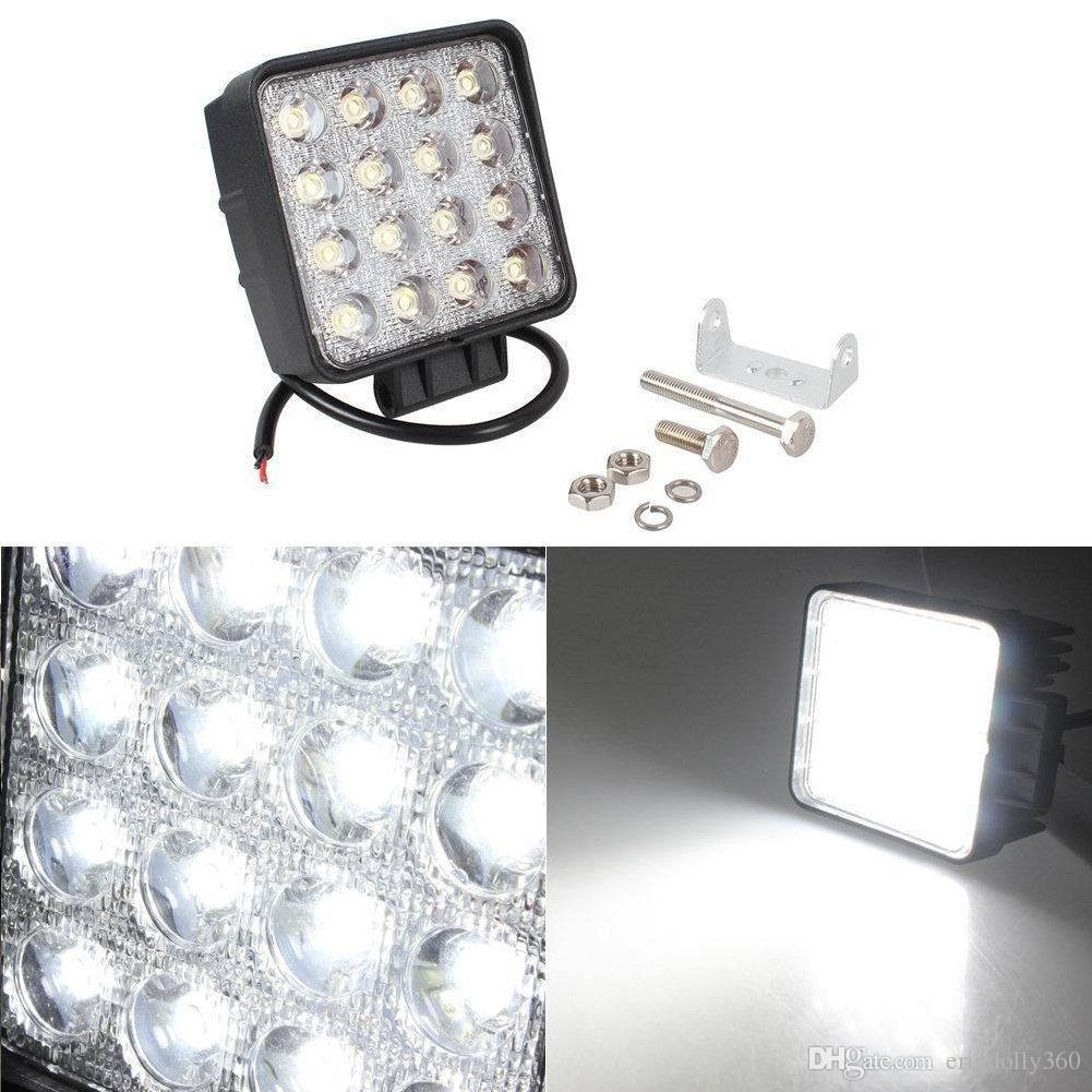 4'' inch 48w Square LED Work Light Off road Spot Lights Truck Lights 4x4 Tractor Jeep Work Lights Fog Lamp For Jeep Cabin Boat SUV Truck Car