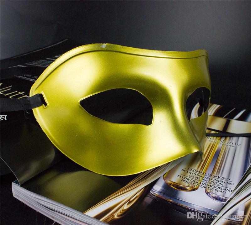 DHL Free Venetian Mascarada Máscaras para las bolas de mascarada de Halloween Mardi Gras Dancing Party Half Eye Oro Máscaras de plata para hombres y mujeres