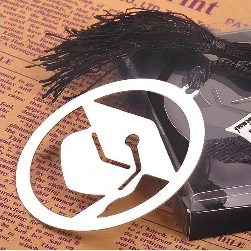 우아한 검은 술과 졸업 모자 금속 책갈피 파티 기념품 대학원 파티 Faovr 손님 선물