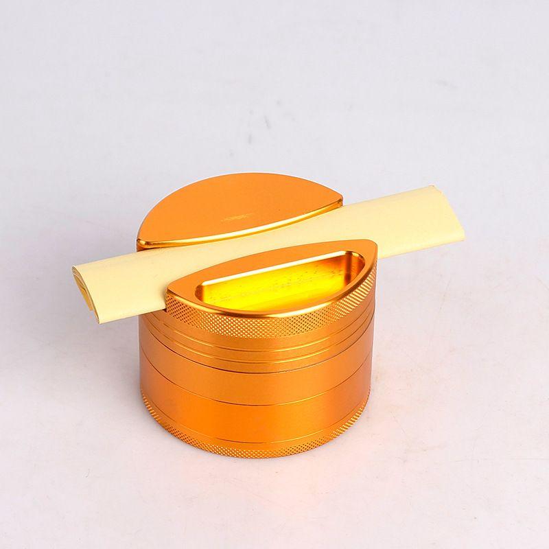 Metallo Smoke Grinder alluminio 75 millimetri 4 strati tabacco smerigliatrice frantoio macina spezie con carta custodia raschietto