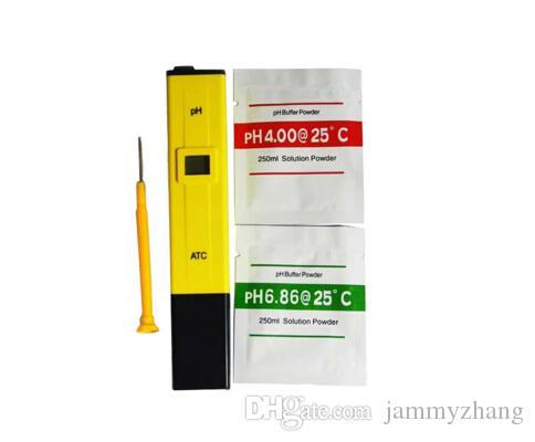 Dijital PH Metre Kalem Tipi PH-009 0.0 ~ 14.0 Otomatik Kalibrasyon Sıcaklık ACT Yüksek Hassas Mini PH Tester İçin Akvaryum