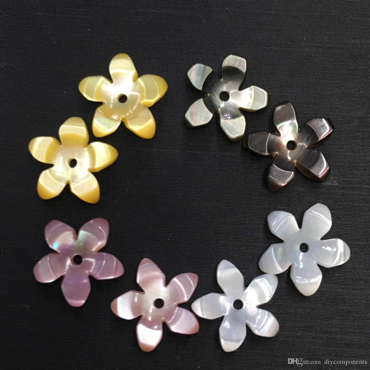2018 Wholesale 10mm Seashell Beads Handmade 3d Carved 5 Petal Cherry