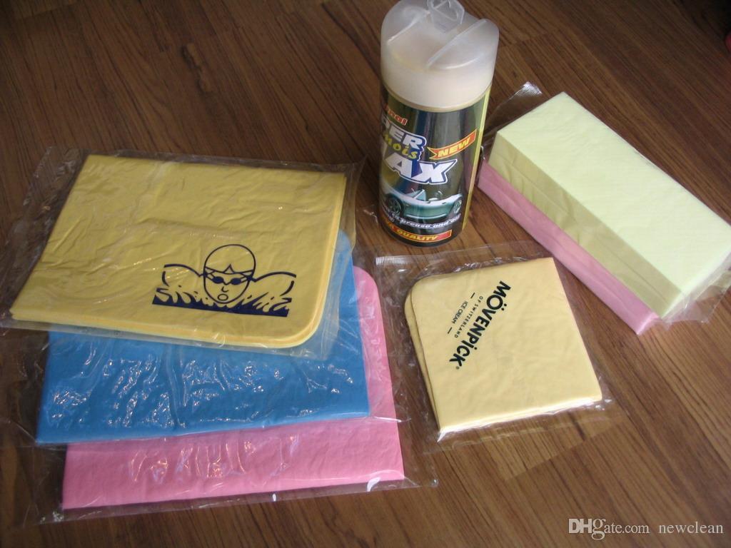 الحرة الشحن مضغوط PVA الشامواه سحر منشفة سيارة / سيارات العناية نظيفة منشفة / القماش PVA تلميع تنظيف منشفة الجلد المدبوغ قماش التنظيف