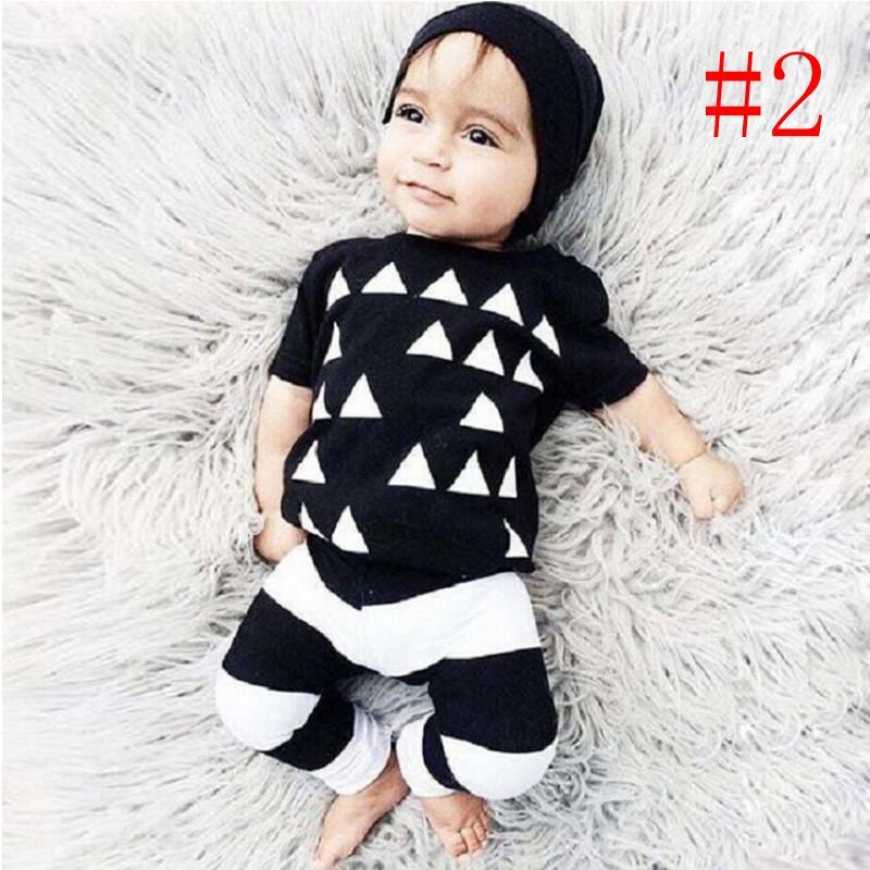 2016 modèles d'explosion INS lettres de bébé LAZY imprimé T-shirt à manches longues + pantalon à rayures costume deux pièces / vêtements de bébé blanc et gris