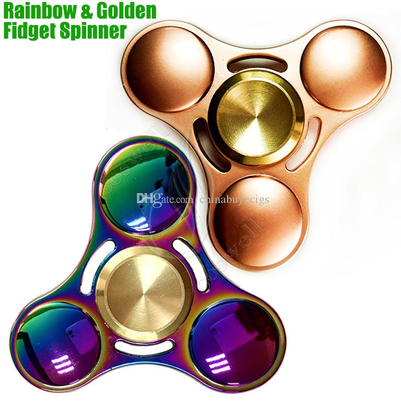 Top Quality Fid Spinner Toys Rainbow & Golden Triangle Hand