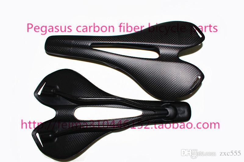 Sela completa do assento da bicicleta da estrada da montanha da fibra do carbono / saco do saddleseat da bicicleta / aparência acessórios 3K da bicicleta