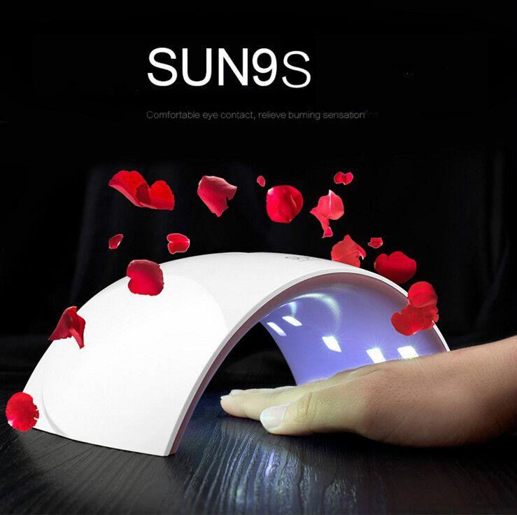 SUN9s / SUN9c 24W USB LED Lámpara Secador de uñas UV Lámpara de uñas Lámpara de doble luz para uñas UV Gel Polish Nail Art