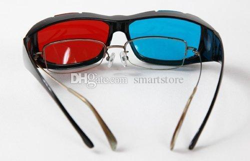 100 adet / grup Kırmızı Mavi Mavi Miyopi 3D 3D için Genel 3D Gözlük Film Oyunu Film DVD 3D Boyutlu Ücretsiz Kargo 0001