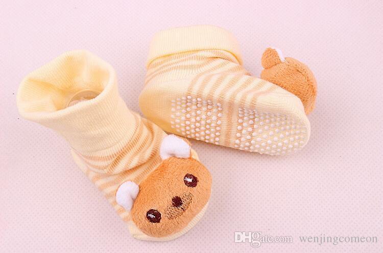 18 스타일 사랑스러운 귀여운 신생아 양말 동물 만화 인형 유아 양말 모델 Anti-slip Boys Girls Socks