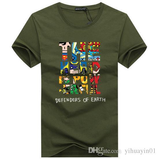 marca 2017 nuova maglietta uomo cotone manica corta moda estate stampa casual o-collo T-shirt da uomo