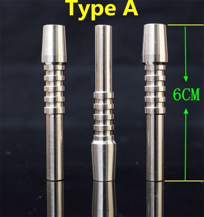 10mm Titane Pointe Nectar Collecteur Pointe Titane Nail Mâle Joint Micro NC Kit Inversé Ongles Longueur 40mm 60mm Ti Nail Conseils
