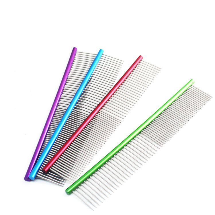 Dog Pet Comb Multi-Colored Dog Grooming Comb For Shaggy Pet Pet Supplies Comb IA594