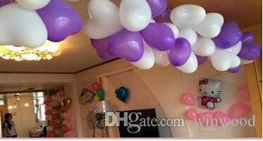 1.2g Coração Em Forma de Balão De Látex Balão Multicolor Balão Festival Comemoração Decoração Brinquedo Bola Presentes Fontes Do Partido de Aniversário de Casamento