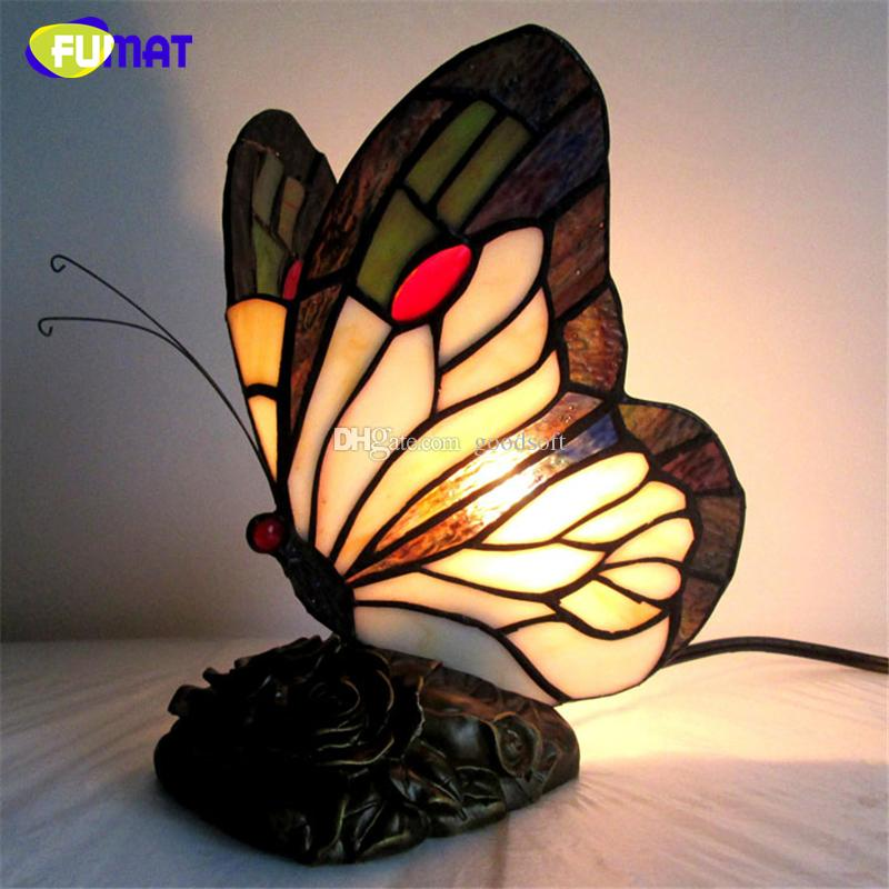2018 Fumat Stained Glass Butterfly Table Lamp Art Creative Tiffanylamp For  Living Room Bedside Lamp Decor Art Glass Table Light Led From Goodsoft, ...