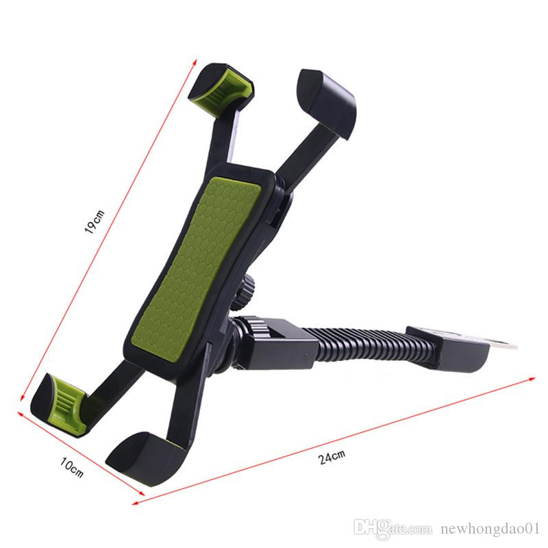 Motorcycle Phone Holder Stand Motorbike rearview mirror Mount Bracket With Edge Protector for samsung huawei xiaomi LG
