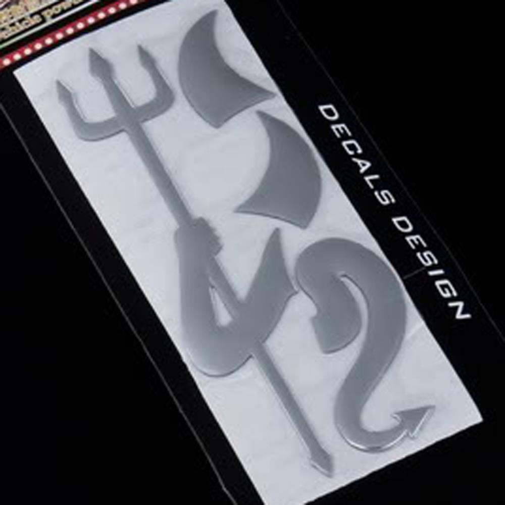 3D Diabo Estilo Demon Decoração Etiqueta para Car Auto Car Emblem Logo Paper Decal