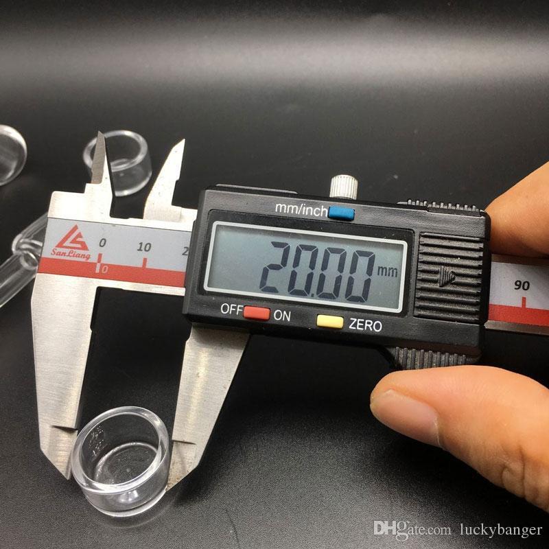 2mm XL 25mm OD Flat Top Quartz Banger Nägel 45/90 Grad mit freiem Glas Carb Kappe Für Glas Bongs Öl Rigs