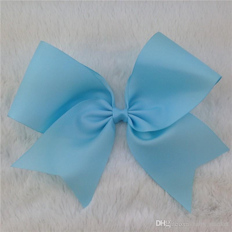 Laço da boutique do cabelo da fita de 8inch com o grampo de cabelo do jacaré para acessórios do cabelo do bebê 196 cores disponíveis! 10 pçs / lote