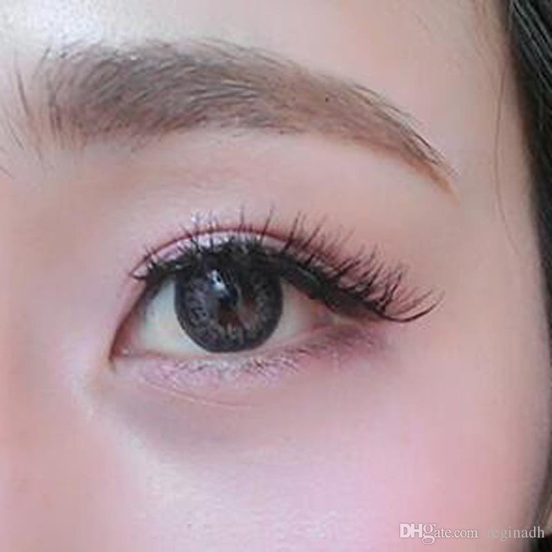 Fiber Fake Eyelashes High Quality Thick Criss Cross Messy Natural Long False Eyelashes Winged Smokey Makeup Eyelashes