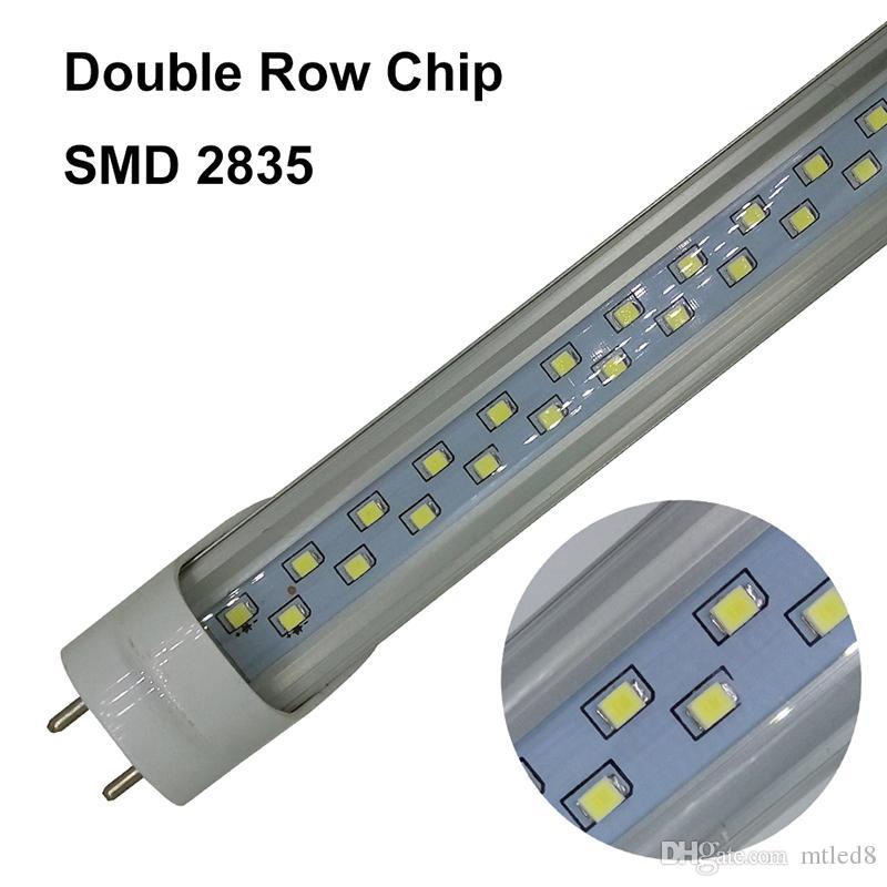 T8 1.2M LEDチューブライト28Wデュアルダブル列SMD 2835 4FT 1200MM LED蛍光管ランプコールドホワイトホワイトAC 85-265V