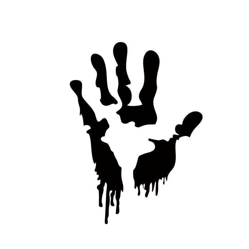 Complètement et trop extrême Acheter 2x Zombie Main Imprimer Autocollant Voiture De Marche &JO_23