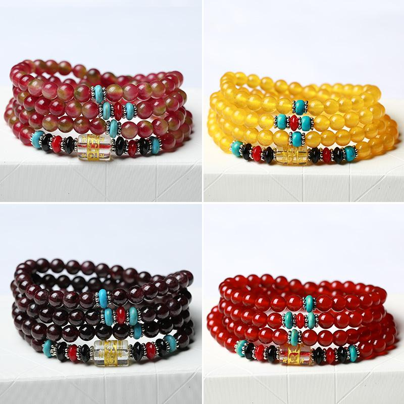 Crystal Jade 108 Beads Beads Bracelet Male and Female Models