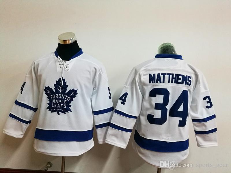 593bce33b75 ... reduced 2018 maple leafs 34 auston matthews white jerseys youth toronto  children hockey jerseys cheap kids