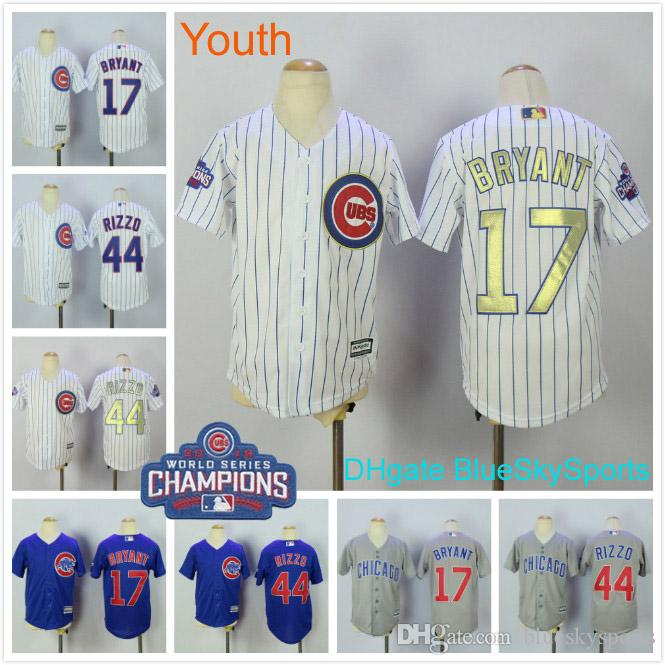 reputable site bc8b9 053f5 coupon code for kris bryant world series youth jersey e5e1a ...