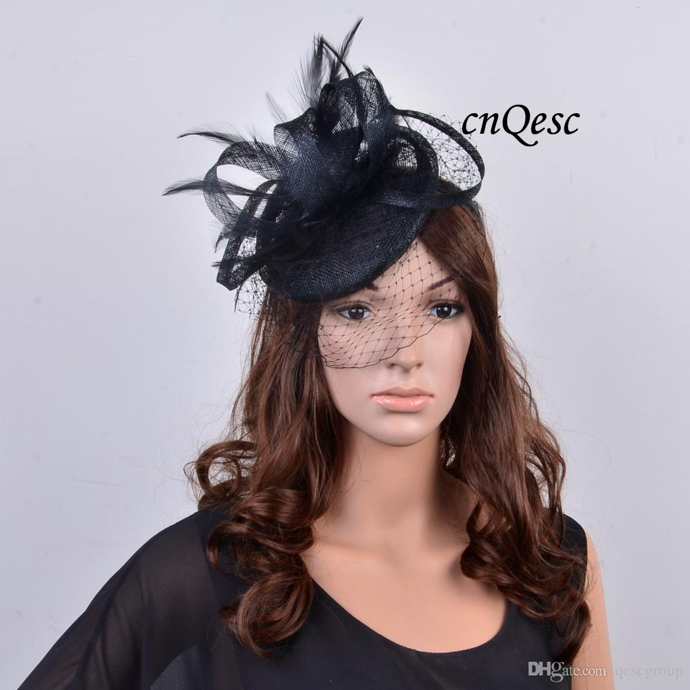 e7433e1aa0e NEW Coral Pink BLACK RED Small Sinamay Fascinator Kentucky Derby Hat ...