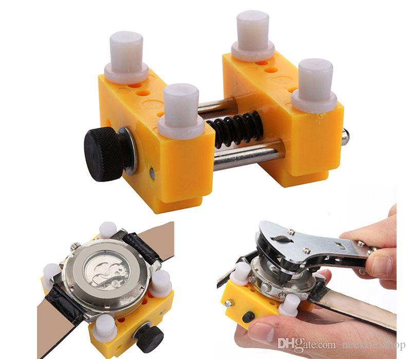 High Quality Watch Back Case Battery Cover Opener Remover Wrench Screw Holder Repair Kit Tool