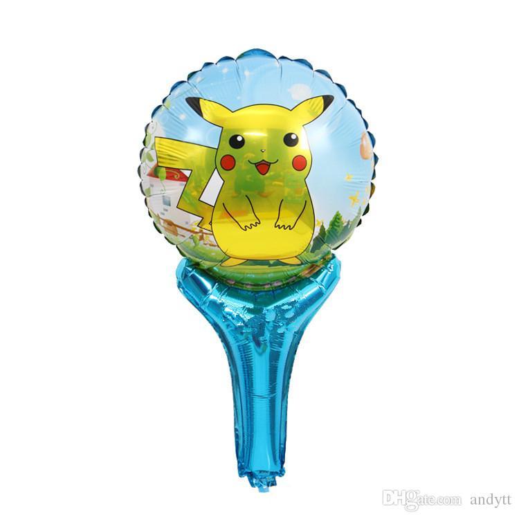 Globos de Pikachu Globo de decoración del partido Recubrimiento de aluminio Globos de doble cara Suministros de fiesta Regalos de Navidad de Pascua GA028