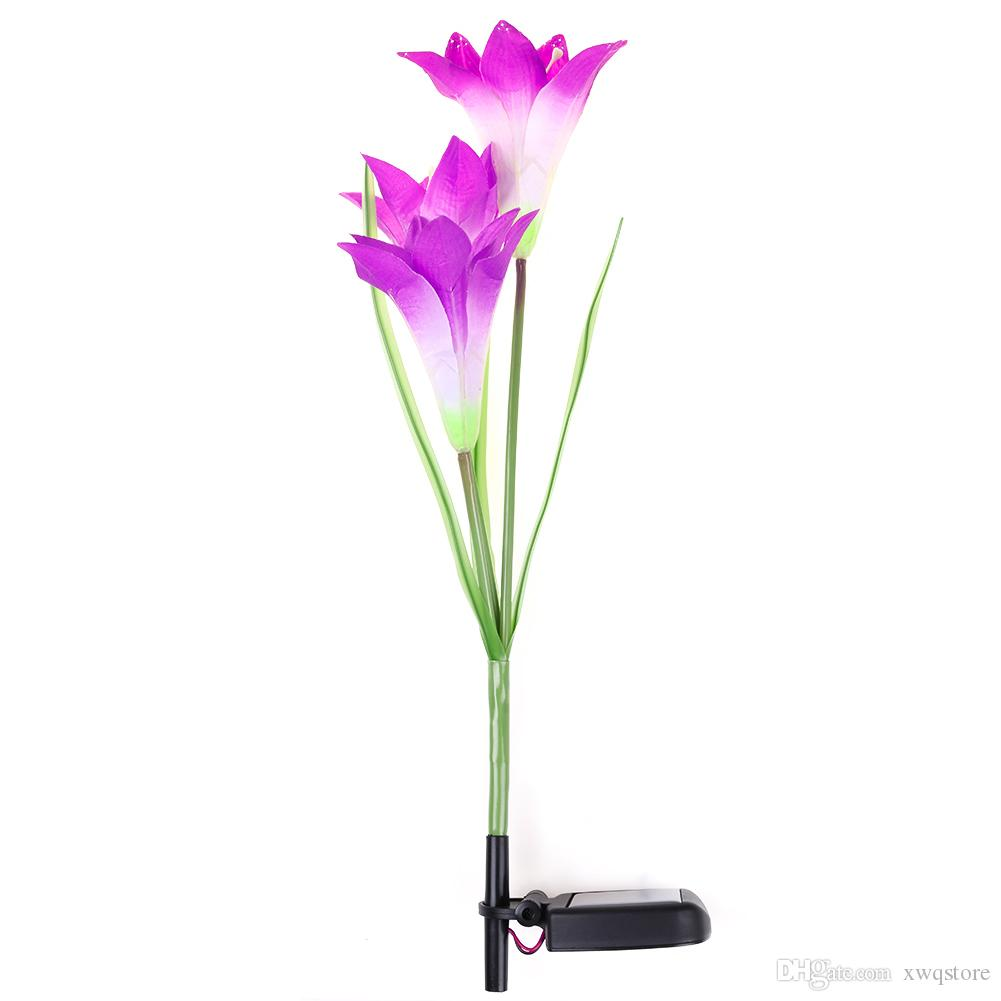 2018 solar power purple lily flower lawn light color change led 2018 solar power purple lily flower lawn light color change led light garden yard lamp lawn lamps from xwqstore 2311 dhgate izmirmasajfo