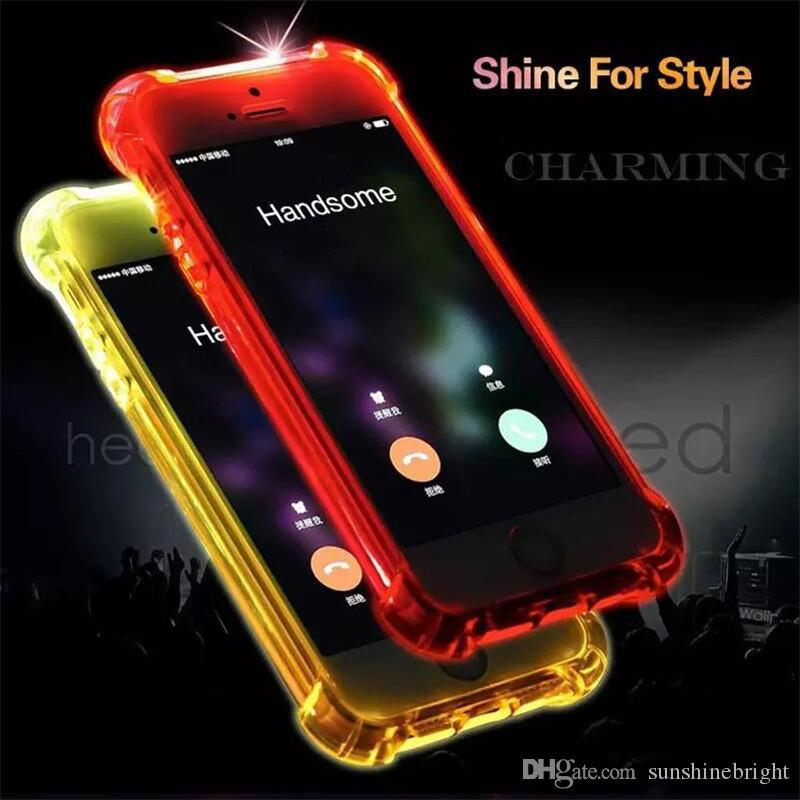 led iphone case call lightning flash led light up phone transparent 12566