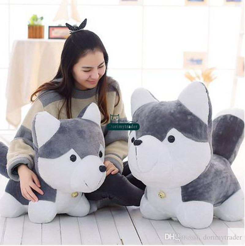 Dorimytrader 90cm Giant Simulated Animal Husky Plush Toy 35'' Large Stuffed Cartoon Dogs Doll Kids Play Toy Baby Present DY61509