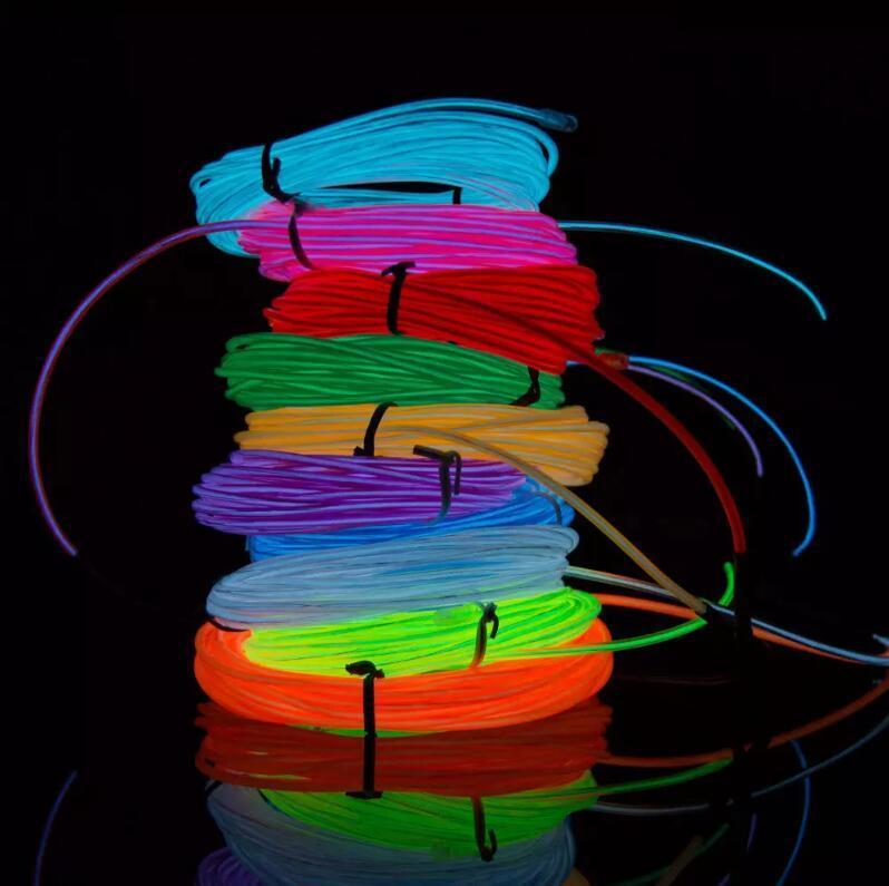 3 M Neon Lekki Glow El Drut Rurka Rura Rowerowa Samochodowa Bar Dance Party Przezroczysty