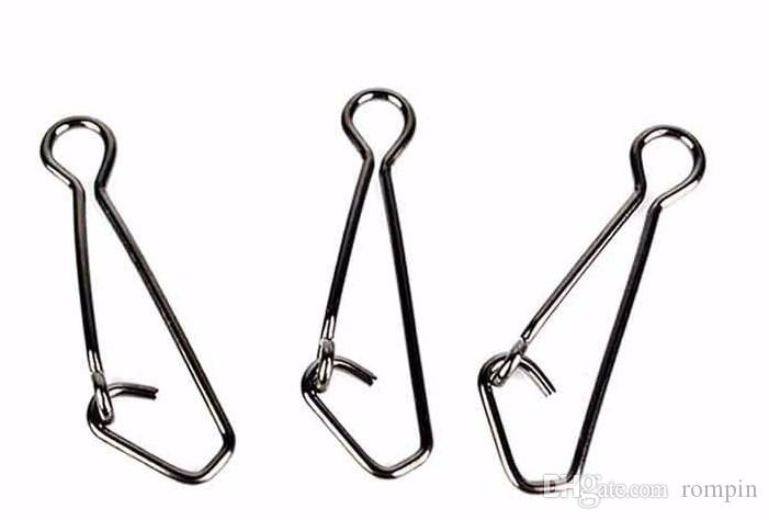 Rompin Stainless Steel Fishing swivels Hooked Snaps size0-6 Fishing Hook Line Connector sea Swivel Rolling Snap