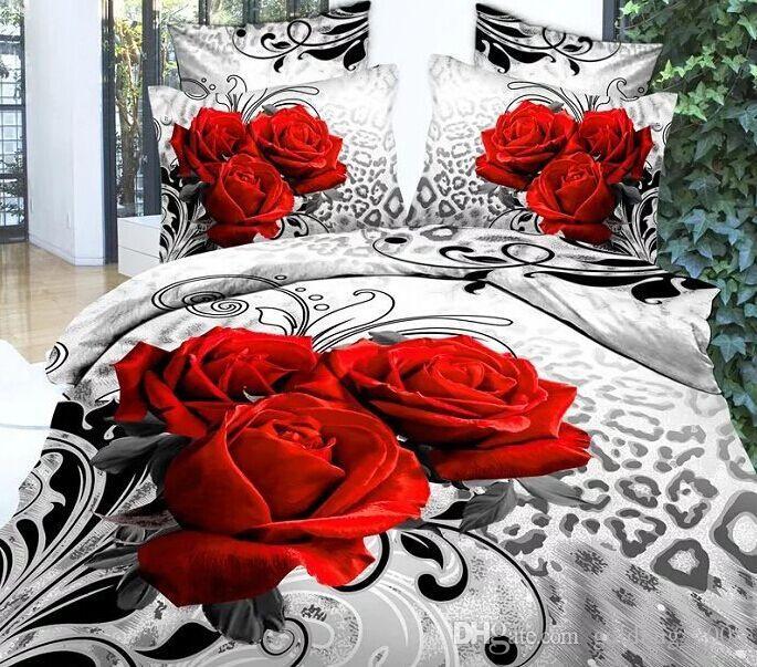 17 stil kurt kaplan leopar at 4 adet Kraliçe 3D Kelebek Çiçekler Yeşil Çarşaf Nevresim Yastık Kılıfı Set DC001