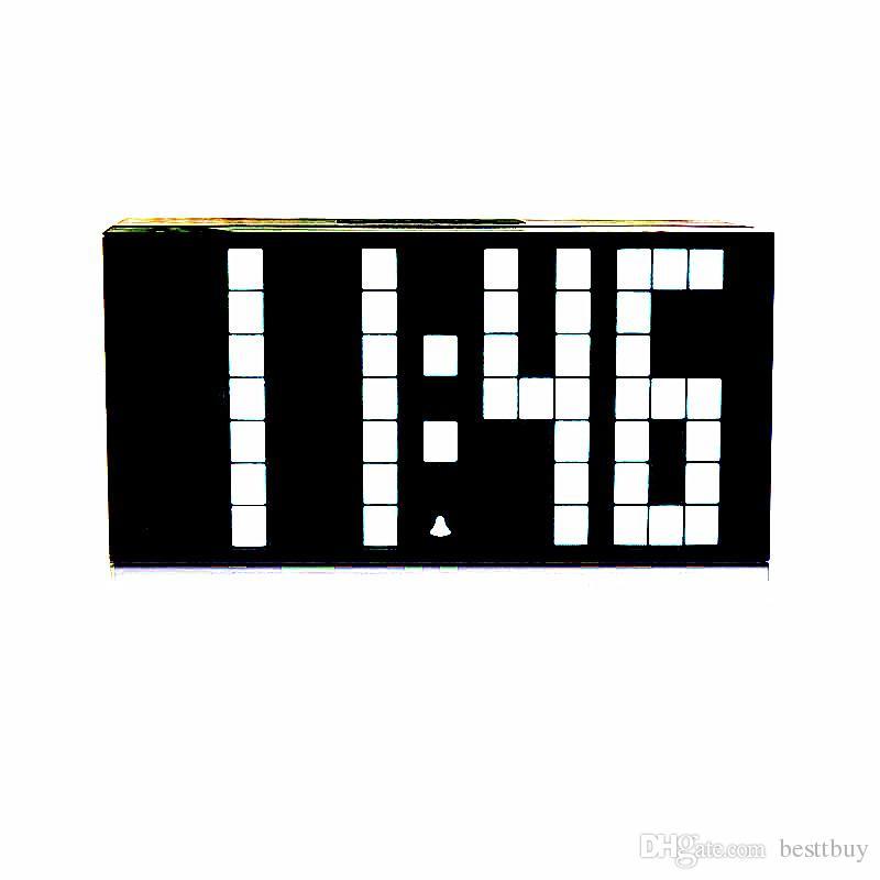Multifuntional Large Big LED Jumbo Alarm Wall Clock Table desktop Display Digital Table Calendar Weather Countdown Timer Clocks temperature