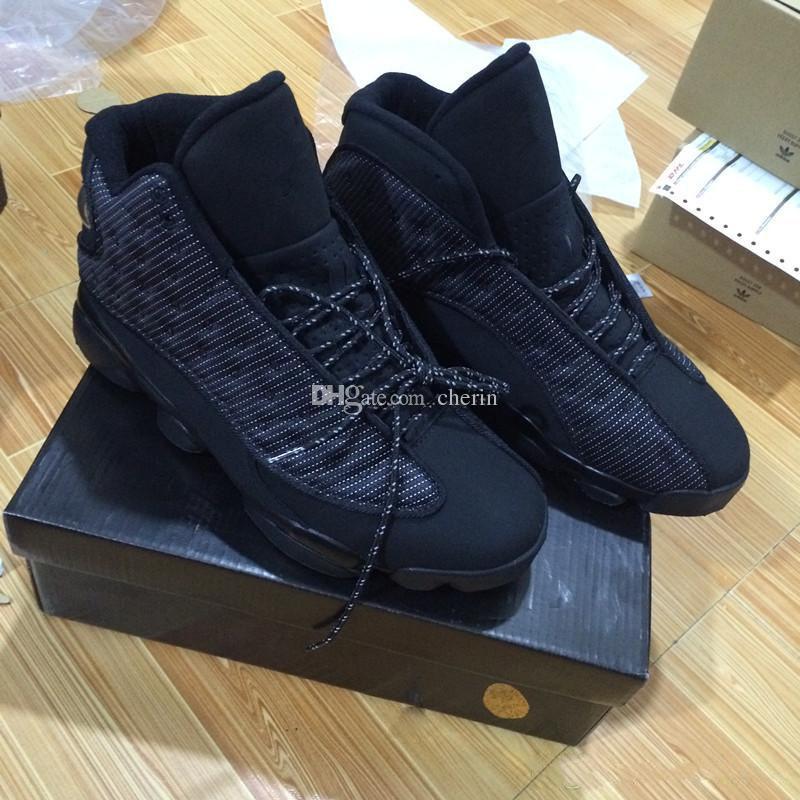 Nouveau 13 OG Black Cat Hommes Chaussures de Basket-ball 3M Reflètent 13 s Noir Chat Athlétisme Sneakers Haute Qualité Taille 8-13