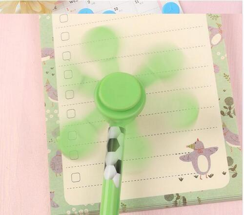 /10box Plastic hand fidget spinner pen toy 20.5cm kids school spincube anti-press key ring space finger spinner cube