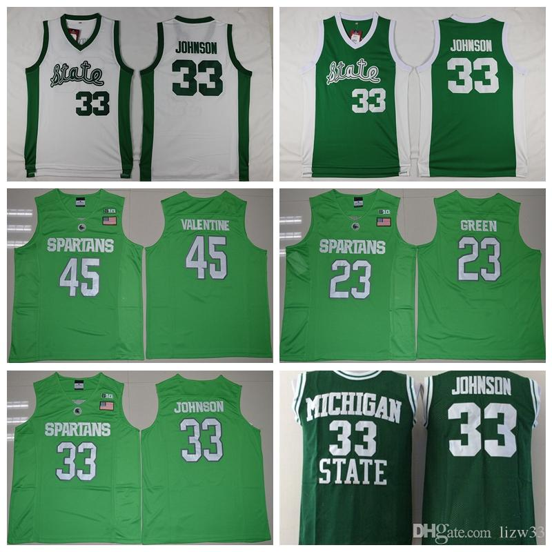 090f05b9ad97 ... green limited stitched ncaa jersey 2018 2016 college throwback michigan  state spartans jerseys 33 magic johnson