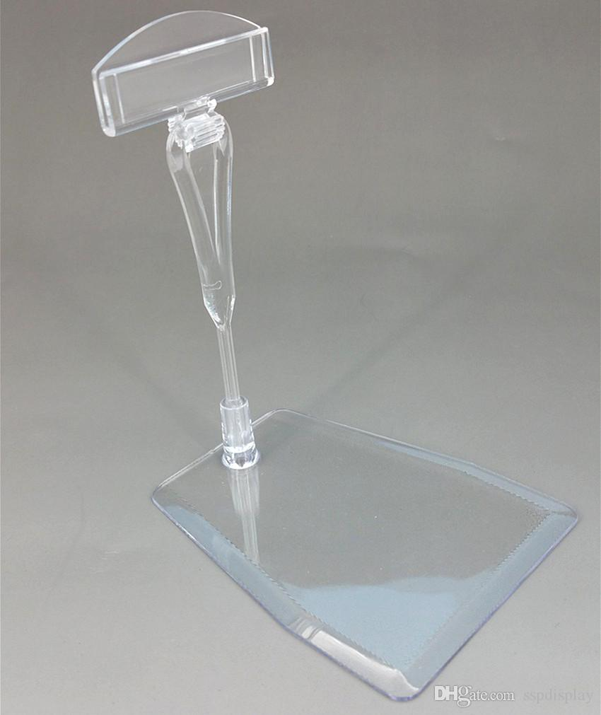 POP Plastic Clear Clip Sign Card Price Tag Holder Display Stand ...