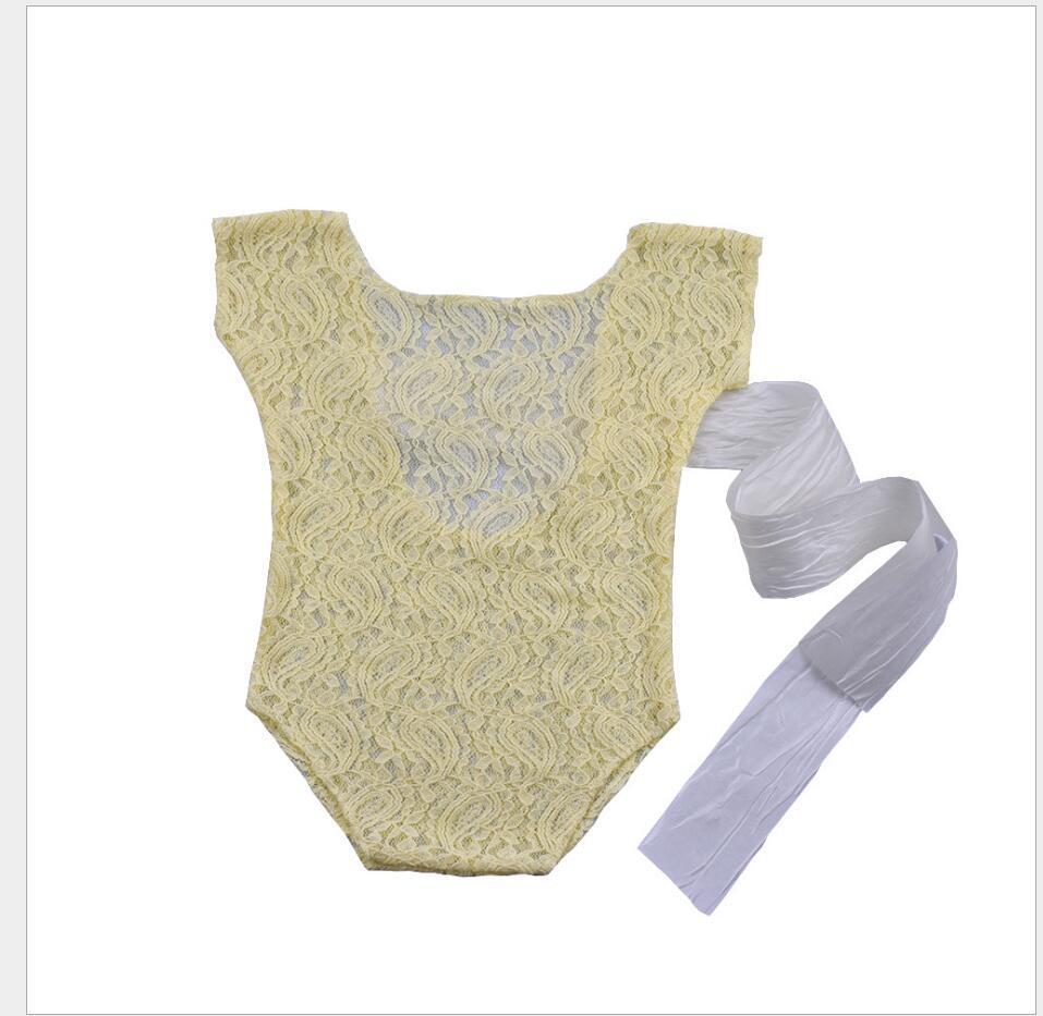 2017 Recém-nascidos Fotografia Adereços Mais Novo Produto Do Produto Do Bebê Estúdio de Fotografia Acessórios Romper Do Laço Voltar Gravata Meninas Outfit Bebê Presente
